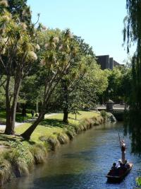 Gondole sur la riviere de Christchurch