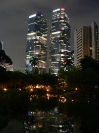 Tours jumelles a Hong-Kong