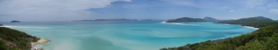 Panorama - Whitehaven Beach - Whitsunday islands - Queensland - Australie