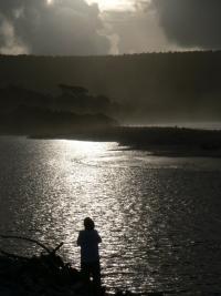 Couche de soleil au sud du Paparoa National Park