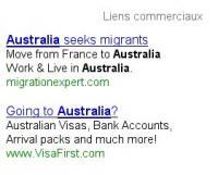 Publicité pour immigrer en Australie