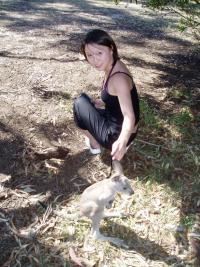 Yifan et son pote le kangourou